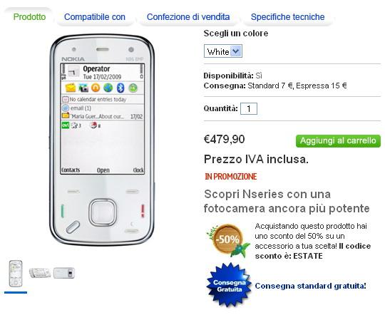 N86 White in vendita su Nokia Shop online