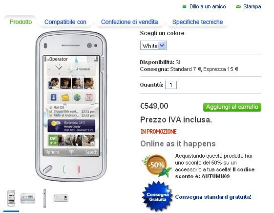 Nokia N97 su Nokia Online Shop