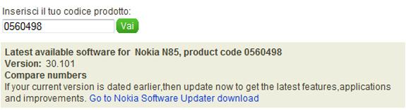 Firmware v.30.101 Nokia N85