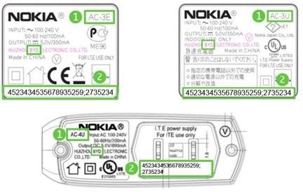 Caricabatteria Nokia difettosi