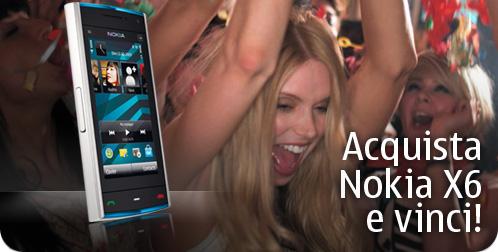 Acquista Nokia X6 e vinci!