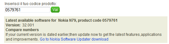 Nokia N79, disponibile il firmware v32.001