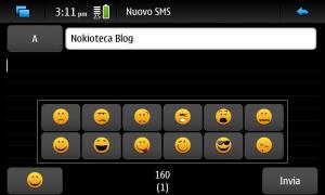 Smiley nell'inserimento dei messaggi