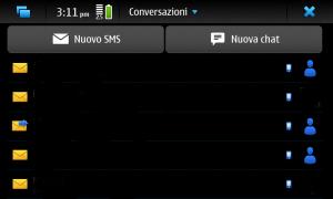 Conversazioni raggruppate per contatto