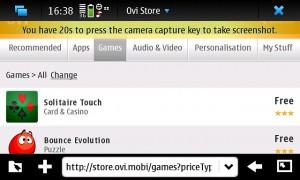 Ovi Store nel Nokia N900