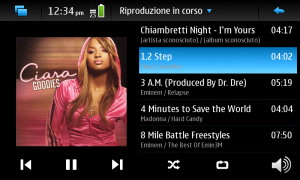 Playlist in esecuzione