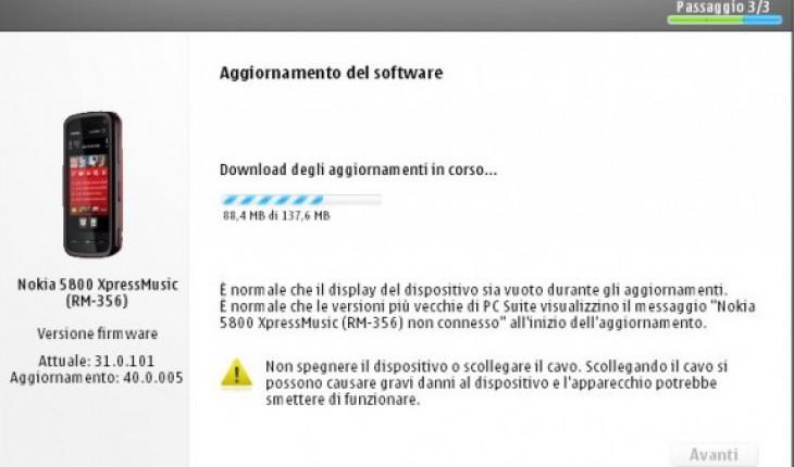 Nokia 5800 Firmware 40.0.00
