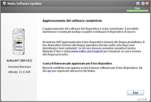 Nokia N97 NoBrand, rilasciato il firmware v21.0.045