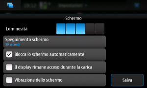 Configurazione display N900
