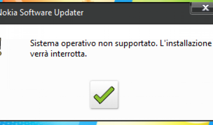errore installazione sotto windows 7