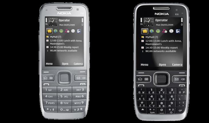 Nuovo firmware versione 33.002 per Nokia E52, E55
