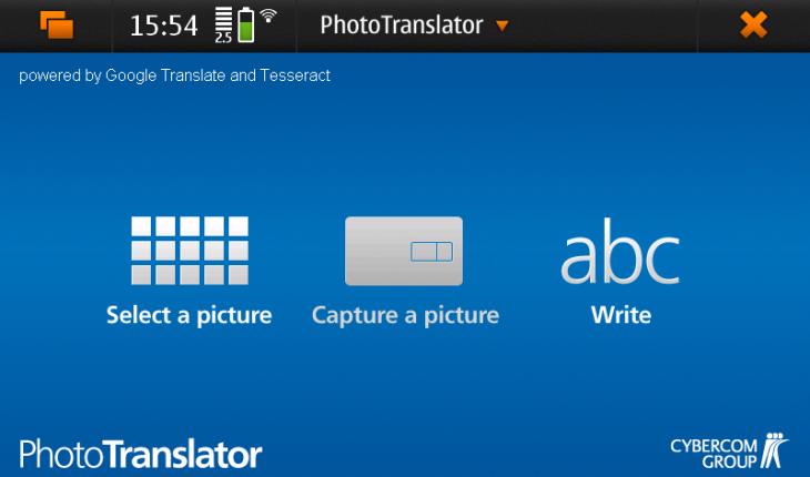 PhotoTranslator per N900