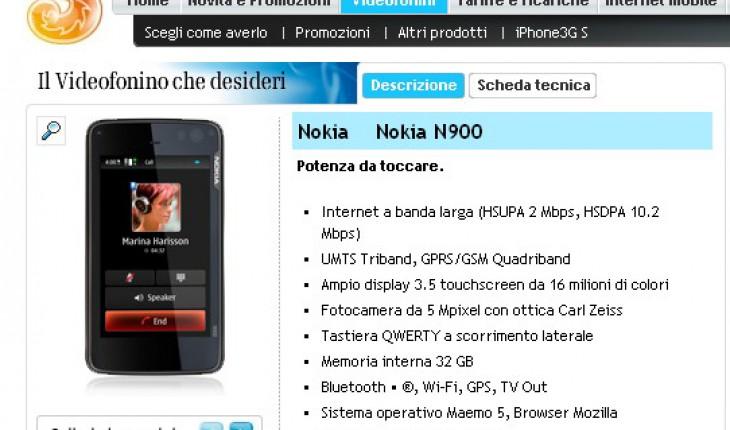 N900 nel listino 3 Italia