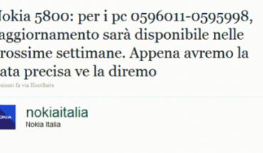 Nokia Italia rassicura gli utenti del 5800