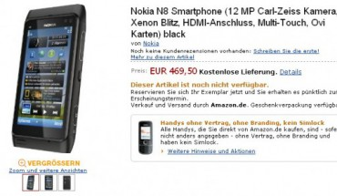 Nokia N8 in preordine su Amazon.de