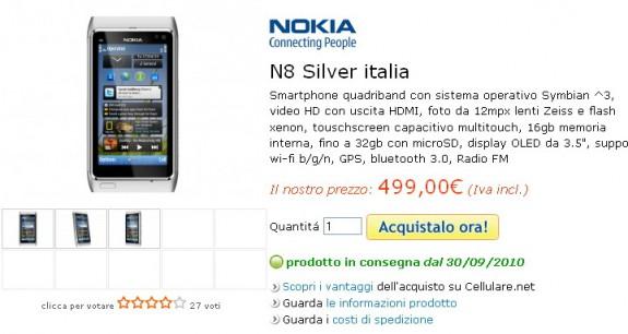 Nokia N8 su Cellulare.net