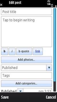 Wordpress su Symbian