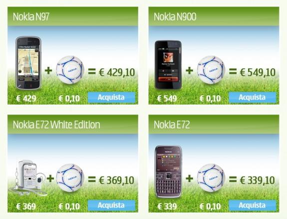 Offerta Nokia Mondiali 2010