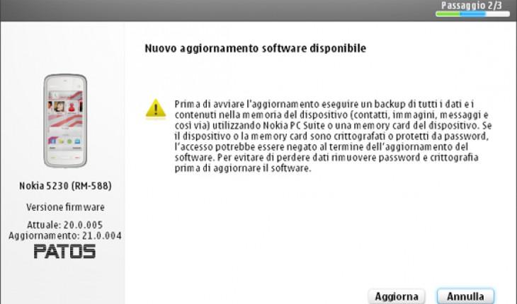 Nokia 5230, nuovo aggiornamento firmware v.21.0.004