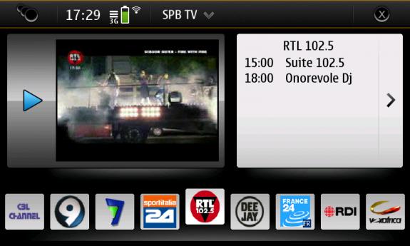 SPB TV per N900 (Maemo)