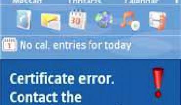 Errore di certificato