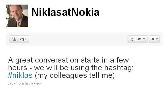Niklas su Twitter