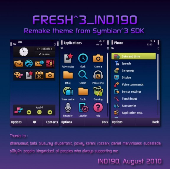 Symbian FRESH^3 by IND190