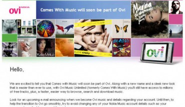 Dal Comes With Music ad Ovi Music Unlimited