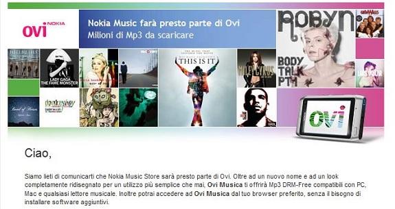 Le canzoni saranno DRM free sul nuovo Nokia Ovi Music!