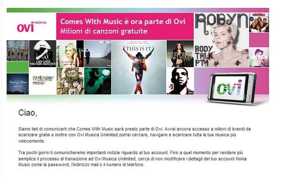 Avviso Nokia Music diverrà Ovi Music!