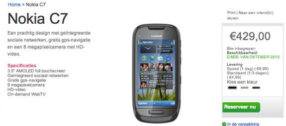 Partite le prenotazioni per il Nokia C7