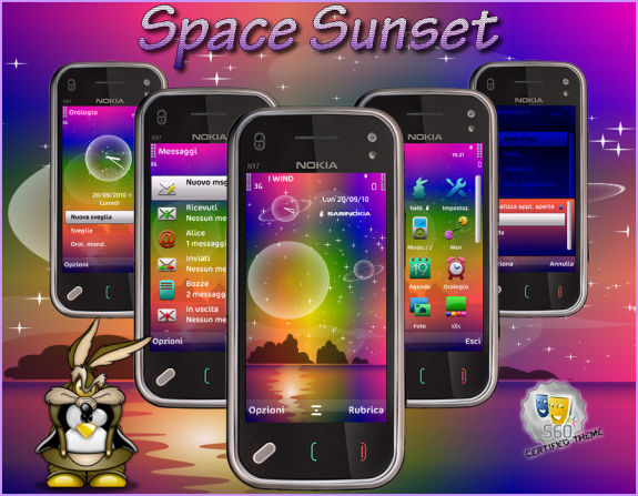 Space Sunset by babi