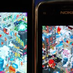 Nokia C6 Display vs Samsung Galaxy