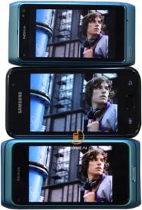 Nokia Clear Black vs Samsung Super Amoled