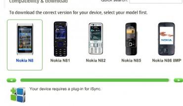 iSync per Nokia N8