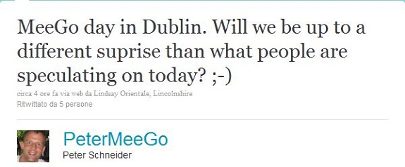 Tweet dalla MeeGo Conference