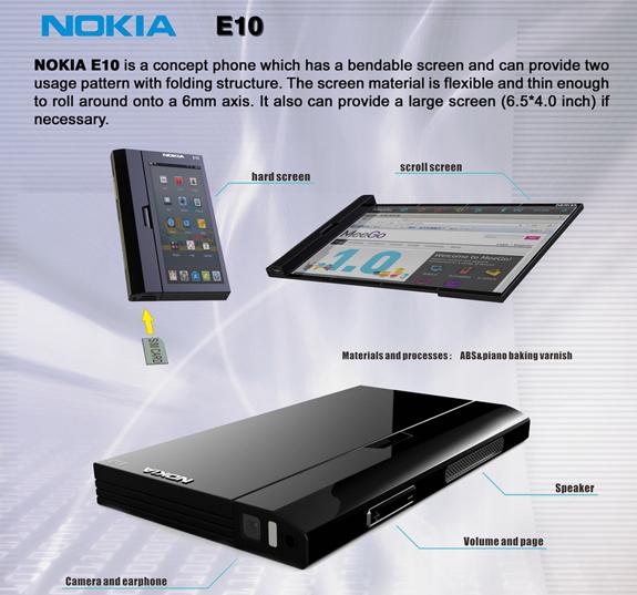 Nokia E10, concept futuristico