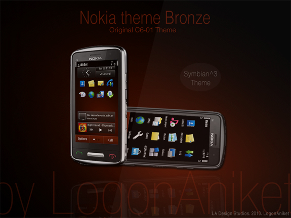 Nokia theme Bronze by LogonAniket