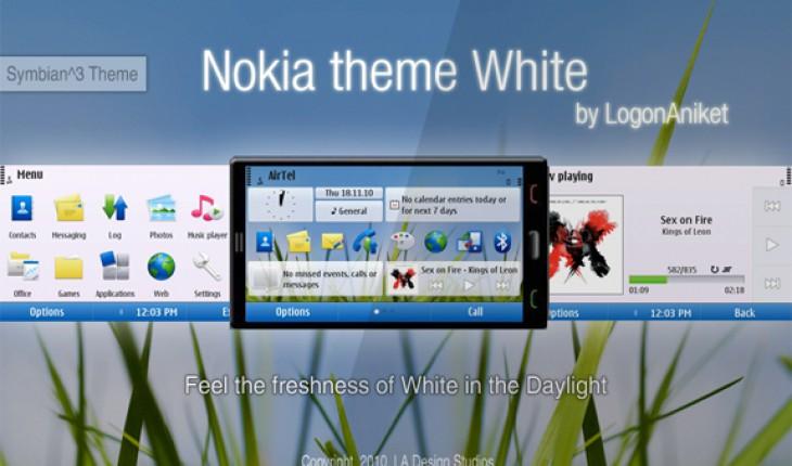 Nokia theme White by LogonAniket