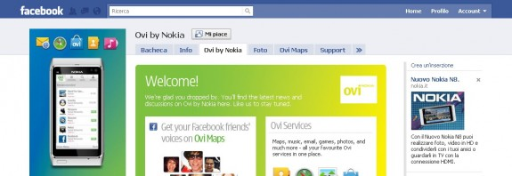 Ovi by Nokia su Facebok
