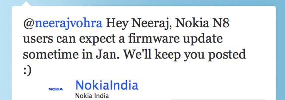 Il primo firmware del Nokia N8 rinviato a Gennaio