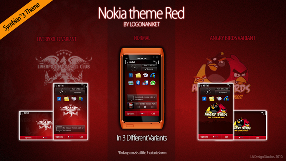 Nokia theme Red by LogonAniket