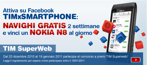 Vinci un Nokia N8 al giorno!