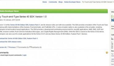 Nokia Blog SDK