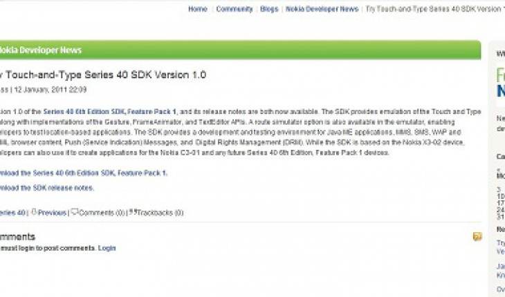 Nokia Blog SDK