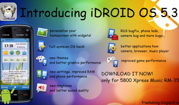 iDROID OS 5.3 by iFraska (custom firmware per 5800)