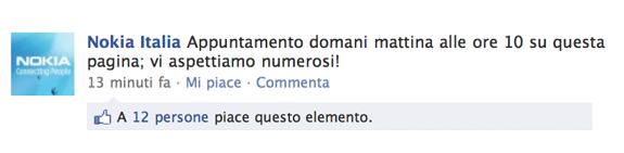 Nokia Italia su Facebook