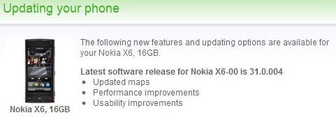 Nuovo Firmware Nokia X6-00