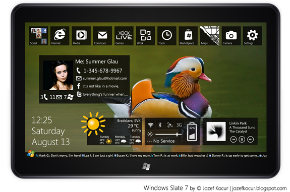 Concept, Tablet MeeGo by Microsoft