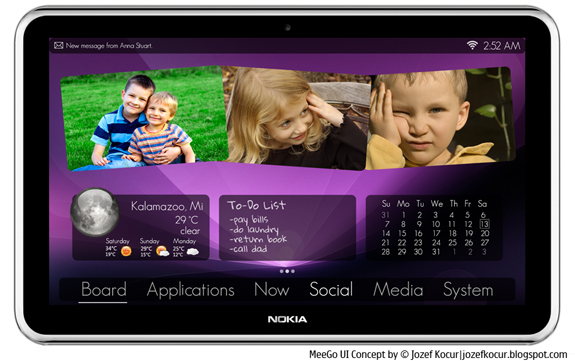 Concept, Tablet MeeGo by Nokia